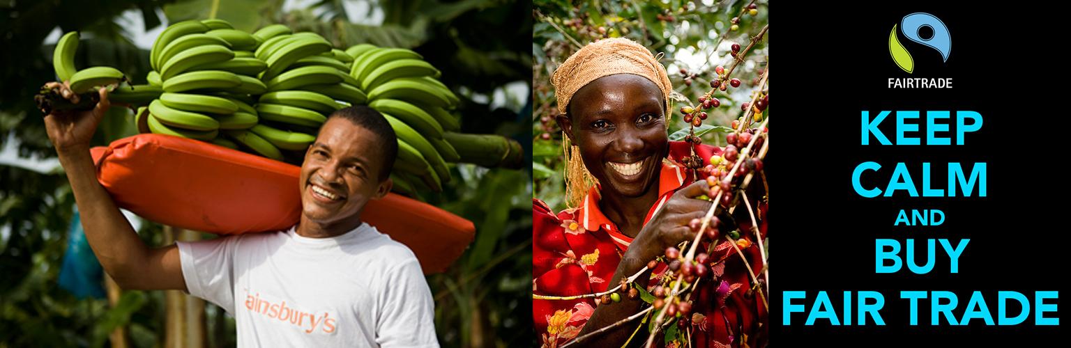 Fairtrade — принципы справедливой торговли.